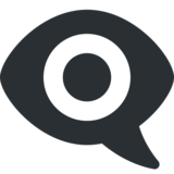 Eye in Speech Bubble on Twitter Twemoji 2.0
