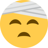 Face With Head-Bandage on Twitter Twemoji 2.0