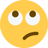 Face with Rolling Eyes on Twitter Twemoji 2.0