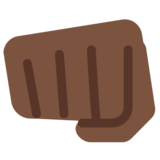 Oncoming Fist: Dark Skin Tone on Twitter Twemoji 2.0
