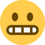 Grimacing Face on Twitter Twemoji 2.0