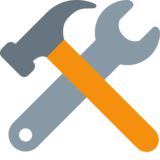 Hammer and Wrench on Twitter Twemoji 2.0