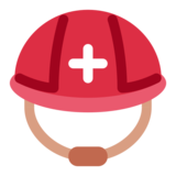 Rescue Worker's Helmet on Twitter Twemoji 2.0
