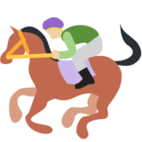 Horse Racing: Medium-Light Skin Tone on Twitter Twemoji 2.0