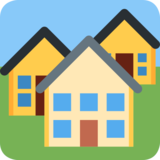 Houses on Twitter Twemoji 2.0