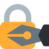 Locked With Pen on Twitter Twemoji 2.0