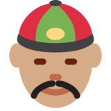 Person With Skullcap: Medium Skin Tone on Twitter Twemoji 2.0