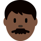 Man: Dark Skin Tone on Twitter Twemoji 2.0