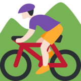 Person Mountain Biking: Light Skin Tone on Twitter Twemoji 2.0