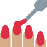 Nail Polish: Medium Skin Tone on Twitter Twemoji 2.0