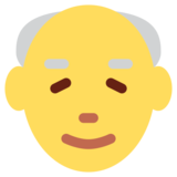 Old Man on Twitter Twemoji 2.0