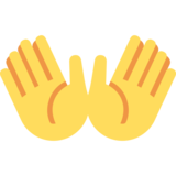 Open Hands on Twitter Twemoji 2.0
