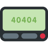 Pager on Twitter Twemoji 2.0