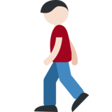 Person Walking: Light Skin Tone on Twitter Twemoji 2.0