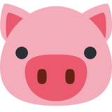 Pig Face on Twitter Twemoji 2.0