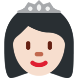 Princess: Light Skin Tone on Twitter Twemoji 2.0