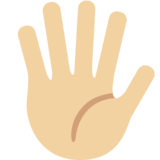 Hand With Fingers Splayed: Medium-Light Skin Tone on Twitter Twemoji 2.0