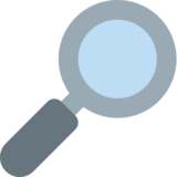 Magnifying Glass Tilted Right on Twitter Twemoji 2.0