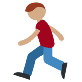 Person Running: Medium Skin Tone on Twitter Twemoji 2.0