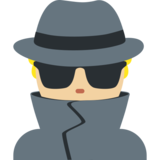 Detective: Medium-Light Skin Tone on Twitter Twemoji 2.0