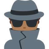 Detective: Medium-Dark Skin Tone on Twitter Twemoji 2.0