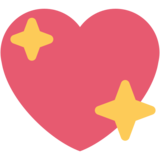 Sparkling Heart on Twitter Twemoji 2.0