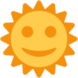 Sun with Face on Twitter Twemoji 2.0