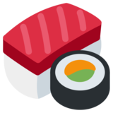 Sushi on Twitter Twemoji 2.0