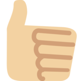 Thumbs Up: Medium-Light Skin Tone on Twitter Twemoji 2.0