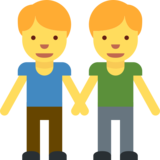 Men Holding Hands on Twitter Twemoji 2.0