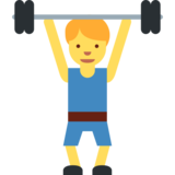 Person Lifting Weights on Twitter Twemoji 2.0