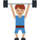 Person Lifting Weights: Medium Skin Tone on Twitter Twemoji 2.0