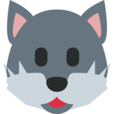 Wolf on Twitter Twemoji 2.0