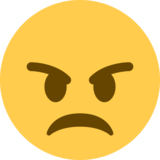 Angry Face on Twitter Twemoji 2.1