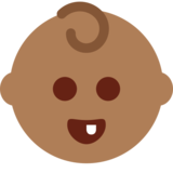 Baby: Medium-Dark Skin Tone on Twitter Twemoji 2.1