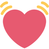 Beating Heart on Twitter Twemoji 2.1