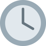 Four O'Clock on Twitter Twemoji 2.1