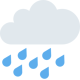 Cloud with Rain on Twitter Twemoji 2.1
