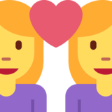 Couple with Heart: Woman, Woman on Twitter Twemoji 2.1