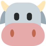 Cow Face on Twitter Twemoji 2.1