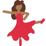 Woman Dancing: Medium-Dark Skin Tone on Twitter Twemoji 2.1