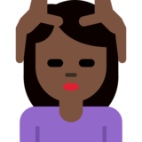 Person Getting Massage: Dark Skin Tone on Twitter Twemoji 2.1