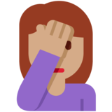 Person Facepalming: Medium Skin Tone on Twitter Twemoji 2.1