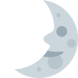 First Quarter Moon Face on Twitter Twemoji 2.1