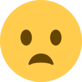 Frowning Face With Open Mouth on Twitter Twemoji 2.1