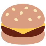 Hamburger on Twitter Twemoji 2.1