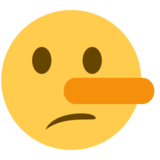 Lying Face on Twitter Twemoji 2.1