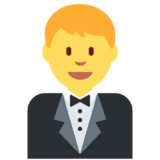 Person in Tuxedo on Twitter Twemoji 2.1