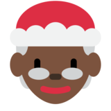 Mrs. Claus: Dark Skin Tone on Twitter Twemoji 2.1