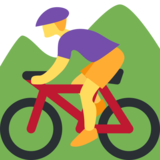 Person Mountain Biking on Twitter Twemoji 2.1